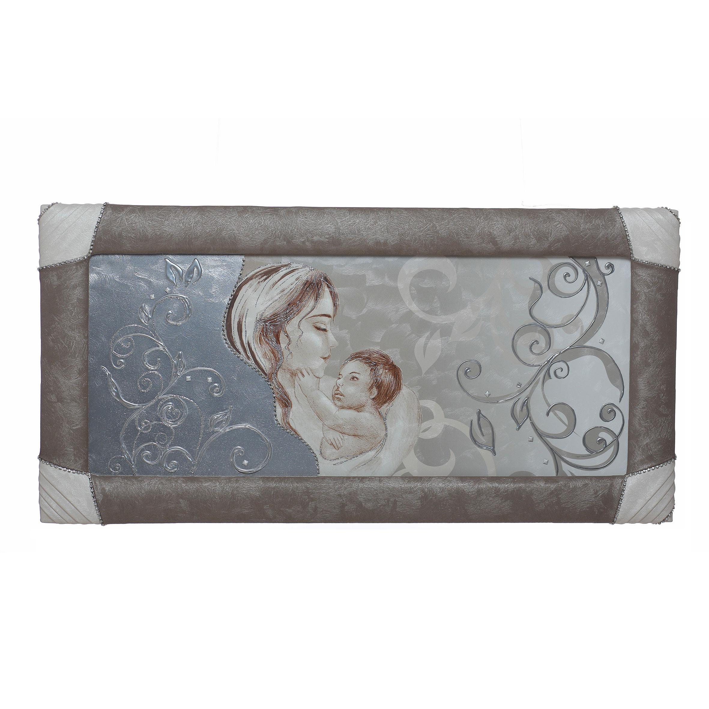 Quadro-capezzale con cornice Sacra Maternità